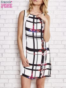 sukienki w kratę