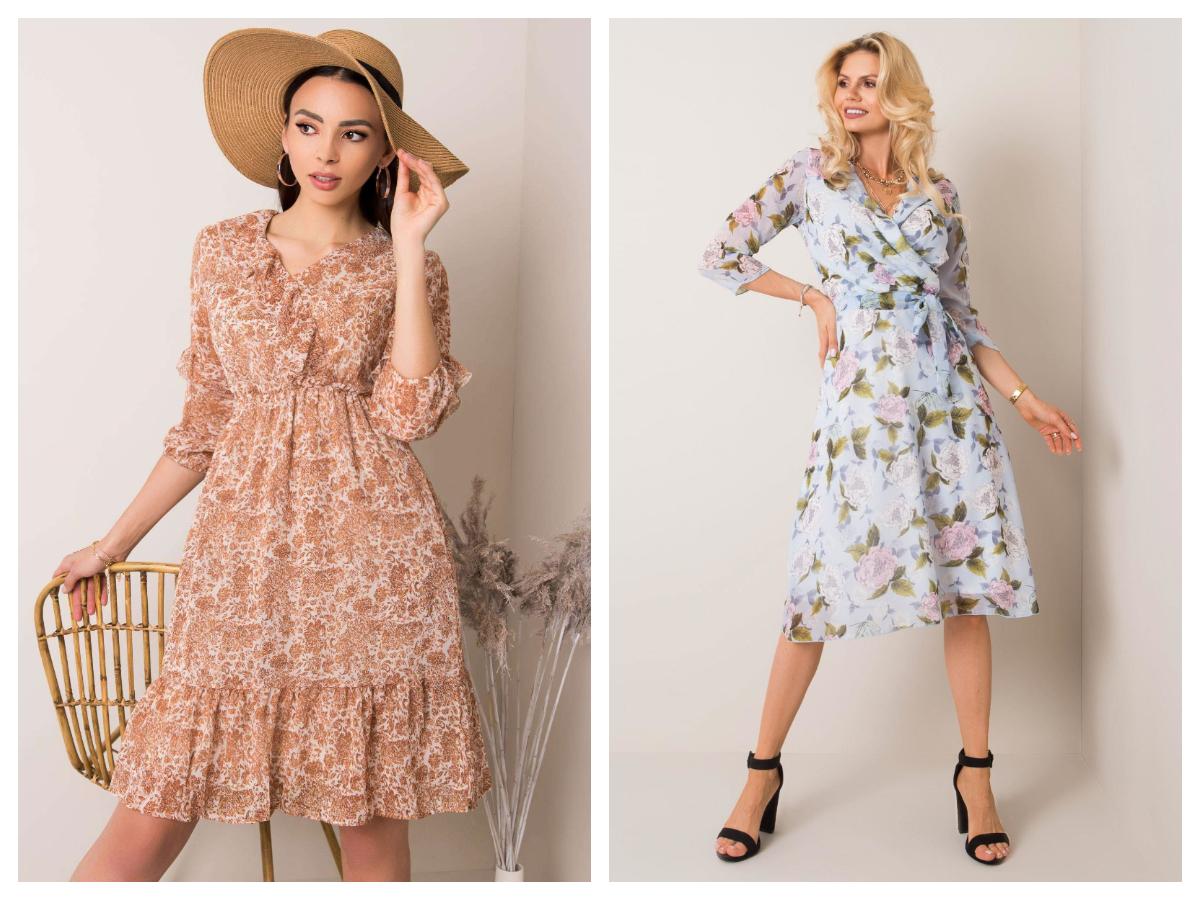 Sukienki w stylu vintage w kwiaty